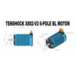 Moteur TENSHOCK X802 V2 - 2400KV