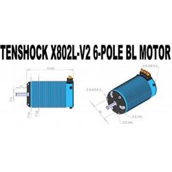 Moteur TENSHOCK X802L V2 - 1950KV