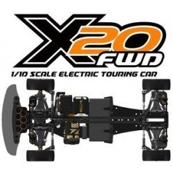 Package SERPENT X20FWD CARBONE 1/10 EP avec COMBO Justock 17.5T et carro Bitty