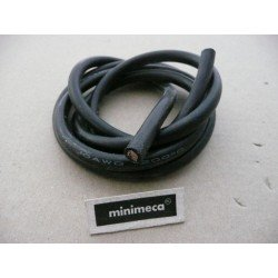 câble silicone 8 AWG noir