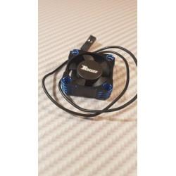 Ventilateur alu  30x30 bleu / noir