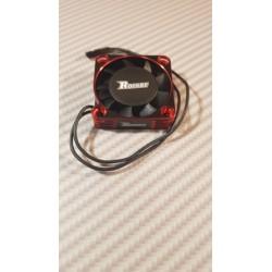 Ventilateur alu 40x40 rouge / noir