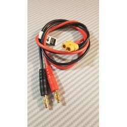 Câble XT60 - PK 4mm pour branchement chargeur