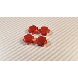 Ecrous de roue 17 mm court rouge
