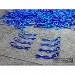 clips carrosserie bleu 1/10 coudés lot de 8