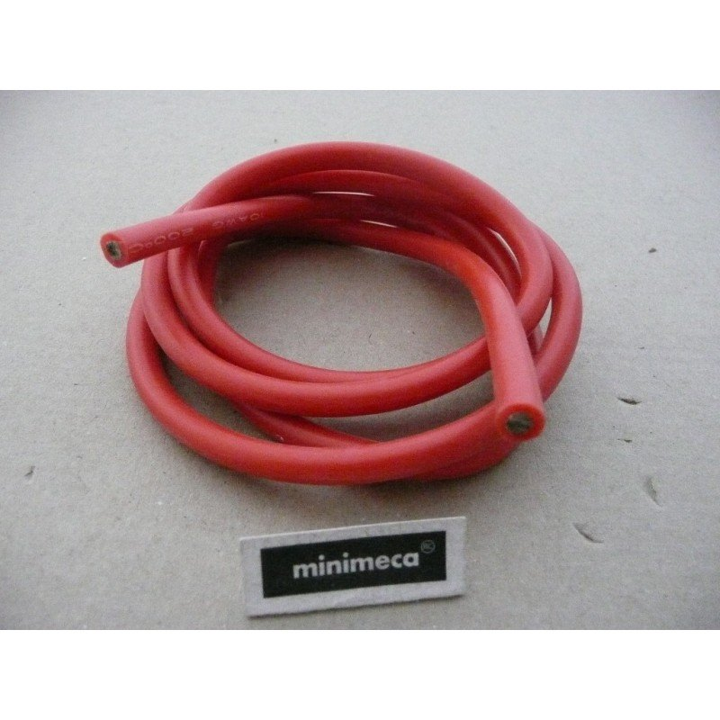 Cable silicone 6 mm² rouge