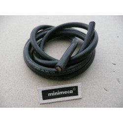 Cable silicone 6 mm² noir
