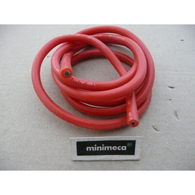 Cable silicone 4 mm² rouge