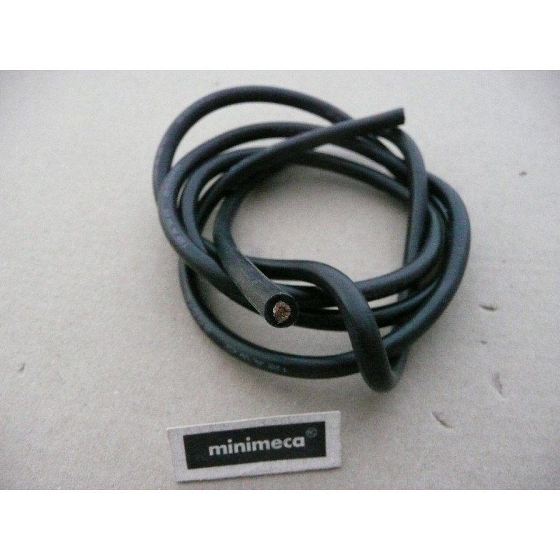 Cable silicone 4 mm² noir